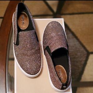 Michael Kors Metalic Keaton Slip on Sneakers